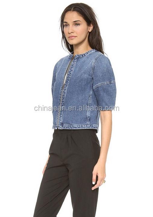 Newest Fashion Women Ladies Jean Denim Jackets Outwear Short