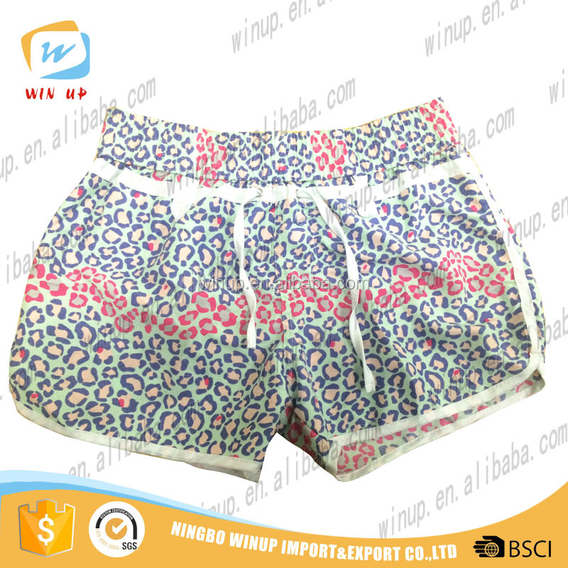 Ladies fancy shorts high waisted shorts women