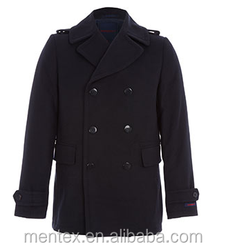 Man's Navy Blue Double Breasted Pea Coat