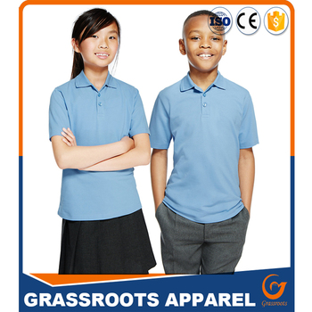 4c80ffbf6 design OEM high quality combed cotton school uniforms POLO shirts for  girls, Toddler ,Boy