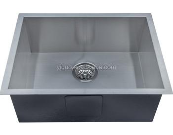 handmade fabricated kitchen sink,custom size stainless steel