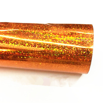 Bronze color no pattern hologram iridescent film hot stamping foil