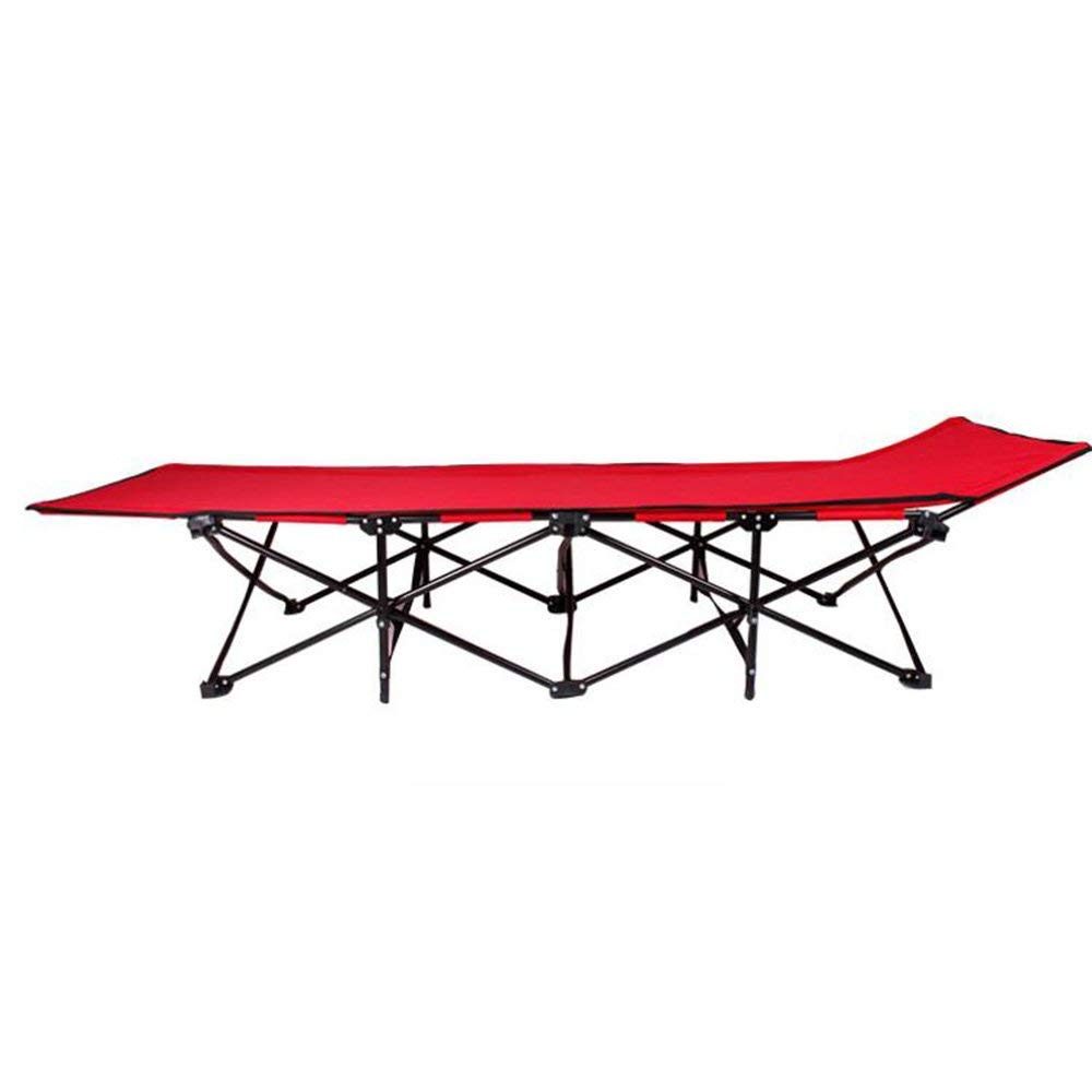 Rocking Chairs MEIDUO Red Folding Camp Cot. Collapsible Folding Camp Cot with Carry Bag. Rated up to 200kg yet weighs only 6kg. For Camping, Traveling, and Home Lounging