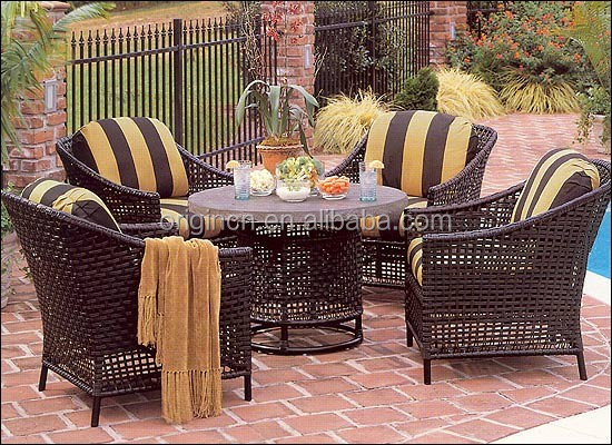 classic hollow out design wicker swimming pool garden rattan chair matching special round coffee table