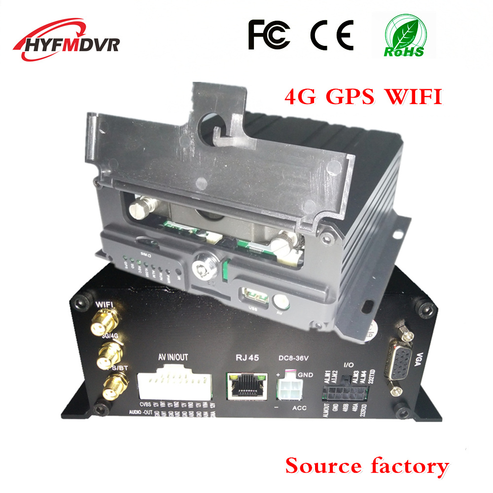 Multifunction AHD 4CH Wifi Mobile <strong>Dvr</strong> G-sensor Alarm I/O Cycle Recording 4g gps mdvr bus mobile <strong>dvr</strong>