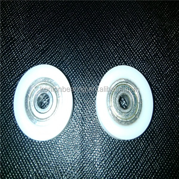 Nylon v / u rail wheel delrin v / u groove wheel bearing 624ZZ for sliding door and window