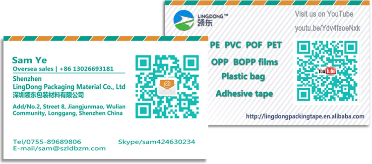 PE Custom Printing clear Poly pre-made perforated bags