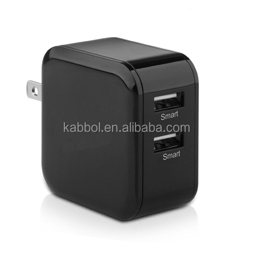 2 port usb wall charger 4.8A 5V 24W universal travel adapter