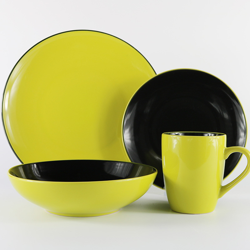 modern living porcelain dinnerware set ceramic breakfast dinnerware set