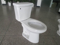 Top Flush Decorative Closet modern two piece sanitaryware ceramic toilet bowl