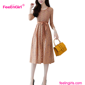 Private Label Chinese Supplier Elegant Fancy Party Women Lace Dress