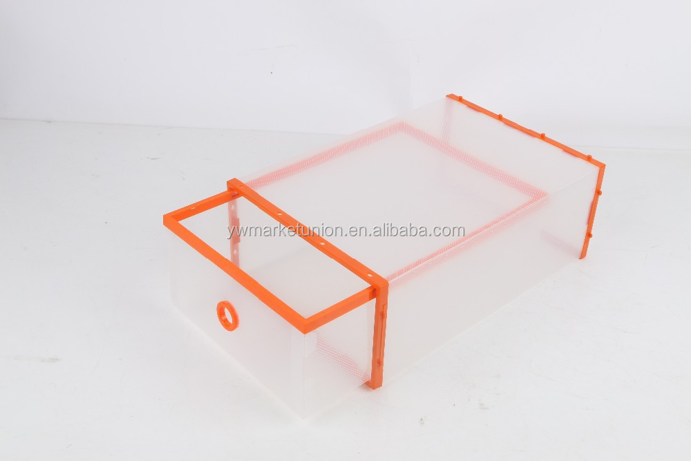 PP Plastic Stackable Shoe Storage Box Shoe Drawer
