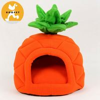 Innovative extra plush strawberry pet bed