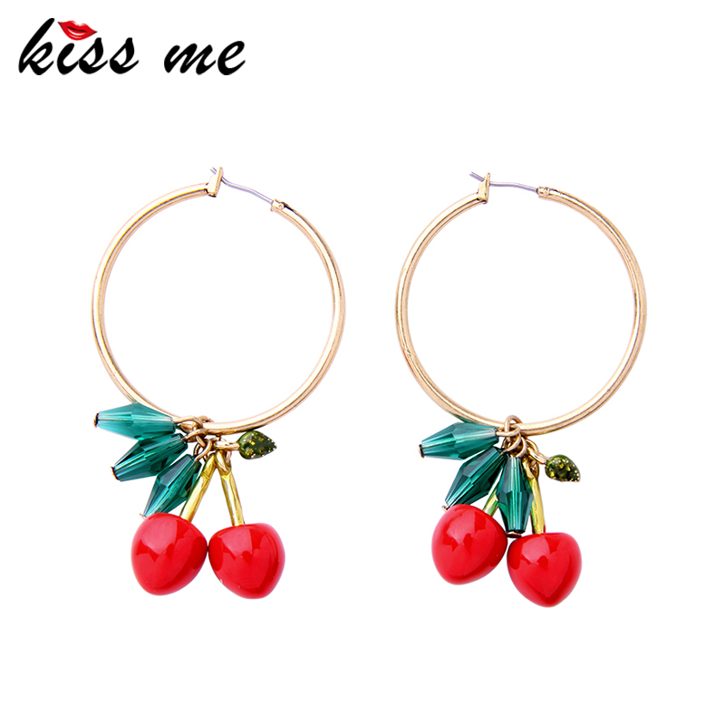 Ceramic Sweet Fruit Earrings, Pending Red Cherry Earrings Jewelry Accessories