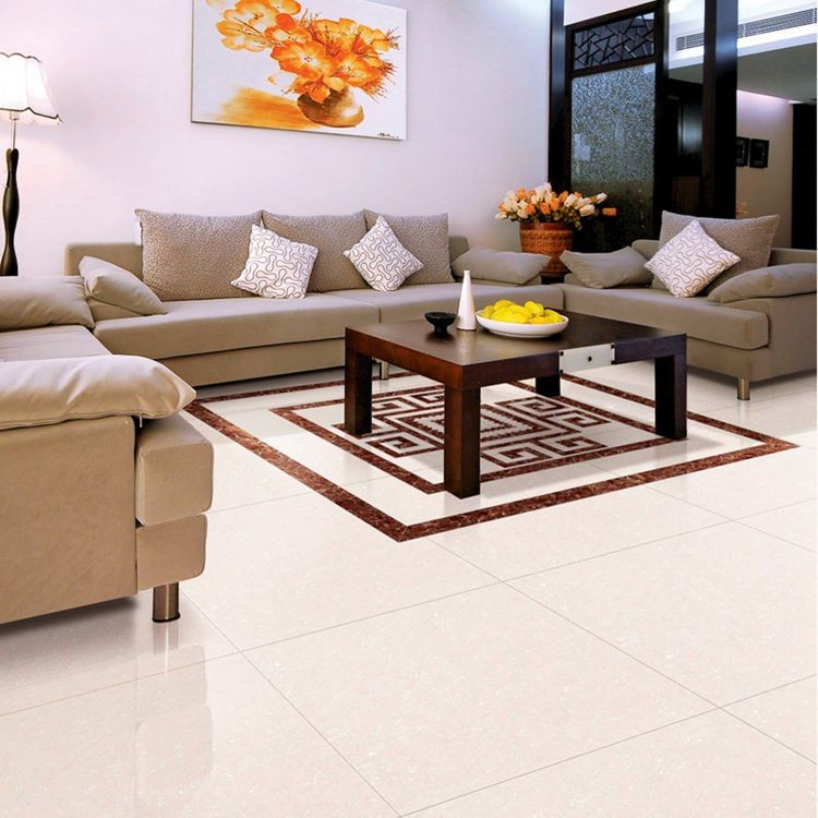 Smooth surface micro crystal polished bright colored porcelain floor tile