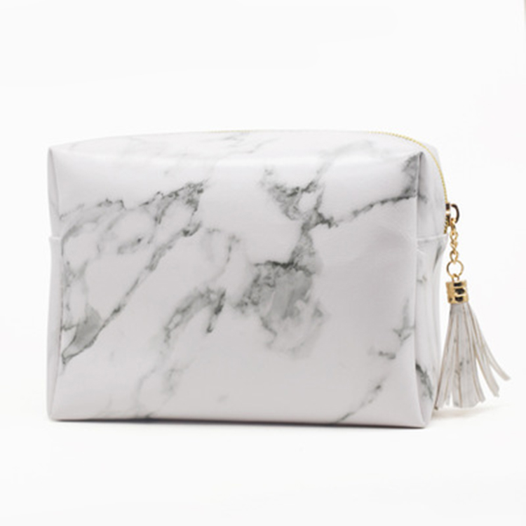 The new design marble cosmetic bag makeup with large capacity brush bag for <strong>travel</strong>