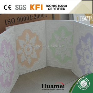 Paint colorful gypsum board for classroom decoration