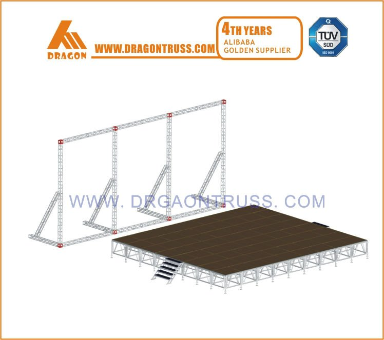 aluminum background truss with stage