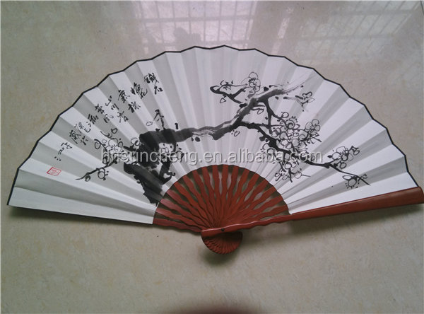 Bamboo Fan Staves! Winter Flowers Design! Famous Painting Fan ...
