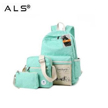 Popular Vintage Trendy Girls High School Backpack Canvas School Bag ... 588c7640ed