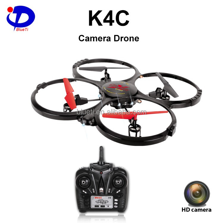 K4C LED light remote control skywalker quadcopter rc toy quadcopter drone with camera