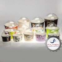 Disposable 2oz 10oz 16oz custom printed frozen yogurt paper ice cream cup