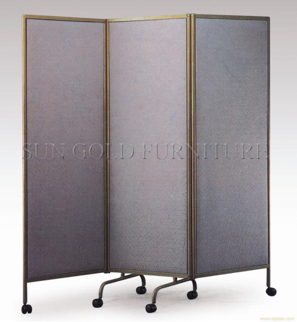 Grey folding movable cheap used office partitions wall with wheels (SZ-WST715)