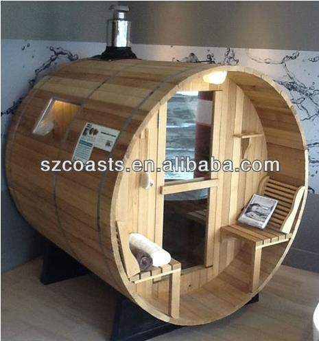 Outdoor Red Cedar Barrel Sauna Steam Room With Sauna