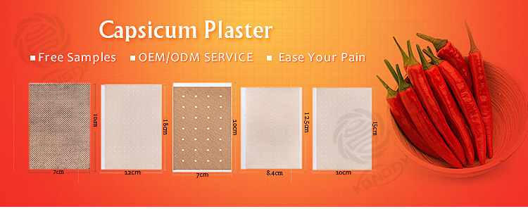 Best effective Chinese herbal material porous capsicum plaster chilli brand