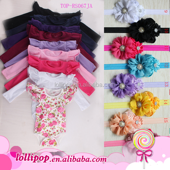 220ac45ed25 Tamil girl baby names floral print flutter long sleeve cotton one piece  romper fashion baby clothes