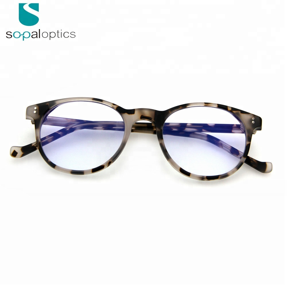 Italy design acetate women computer anti blue light blocking glasses