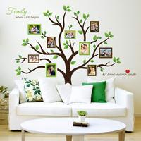 Myway Family Tree Wall Decal Butterflies and Birds Vinyl Art Photo Frame Removeable Living Room Home Decor Wall Sticker