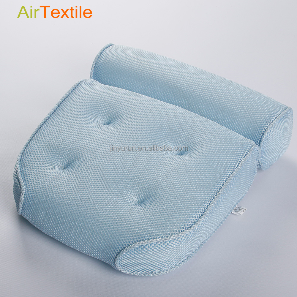 luxury soft 3D air spa bath mesh pillow