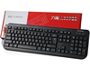 USB PS/2 Wired Desktop Keyboard US Layout - Black