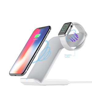 Oem 2 Coil 10W Stand Wireless Charger Holder 2 In 1 Phone Holder With Wireless Charger