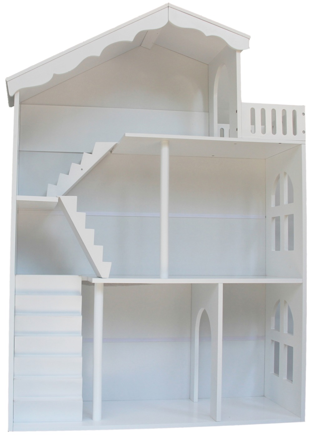 White Wooden Dollhouse Bookshelf Storage Furniture Children Furniture