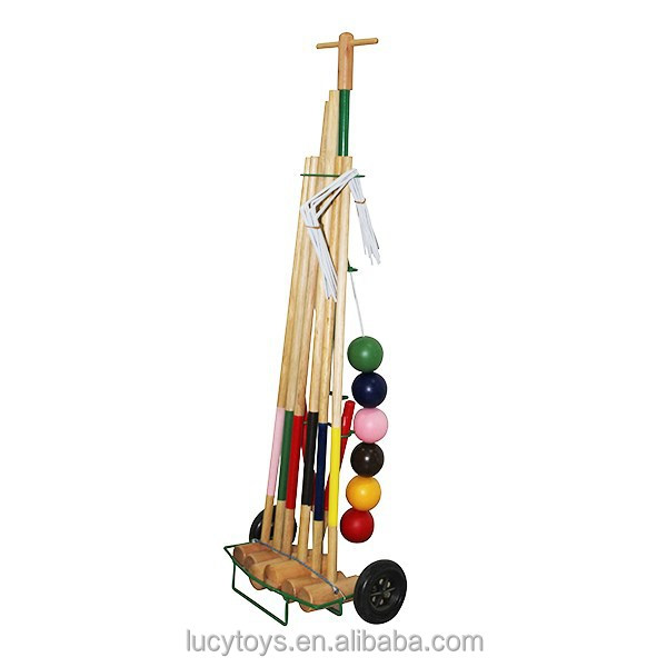 Hiagn Quality Customized Wood Croquet Set For Old