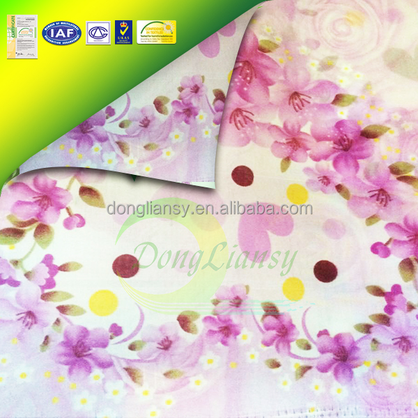 New Design Flower Printed 100%polyester Different Types of Fabric