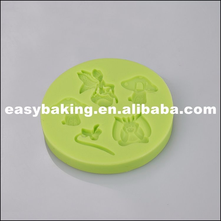 Multi Cavities Different Shapes Fondant Silicone Molds for cake decorating ES-1008