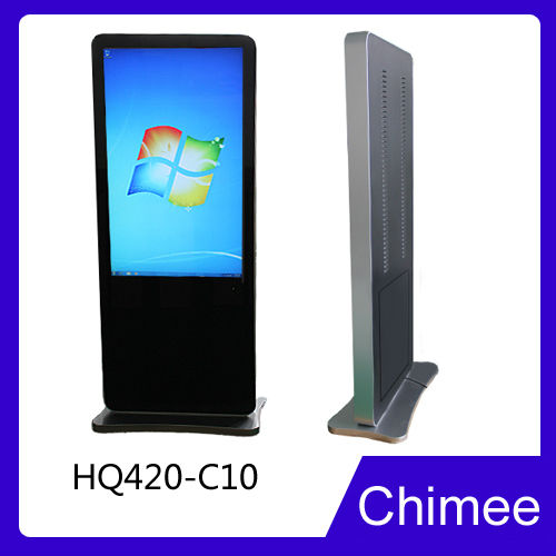 42 Inch Floor Standing LCD window 7/8 OS Interactive Multimedia kiosk lcd monitor with media player for advertising