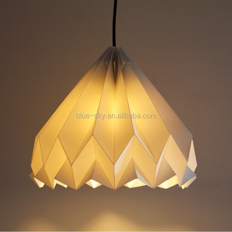 Origami Hanging Diamond Shaped Paper Lampshade Lantern H01