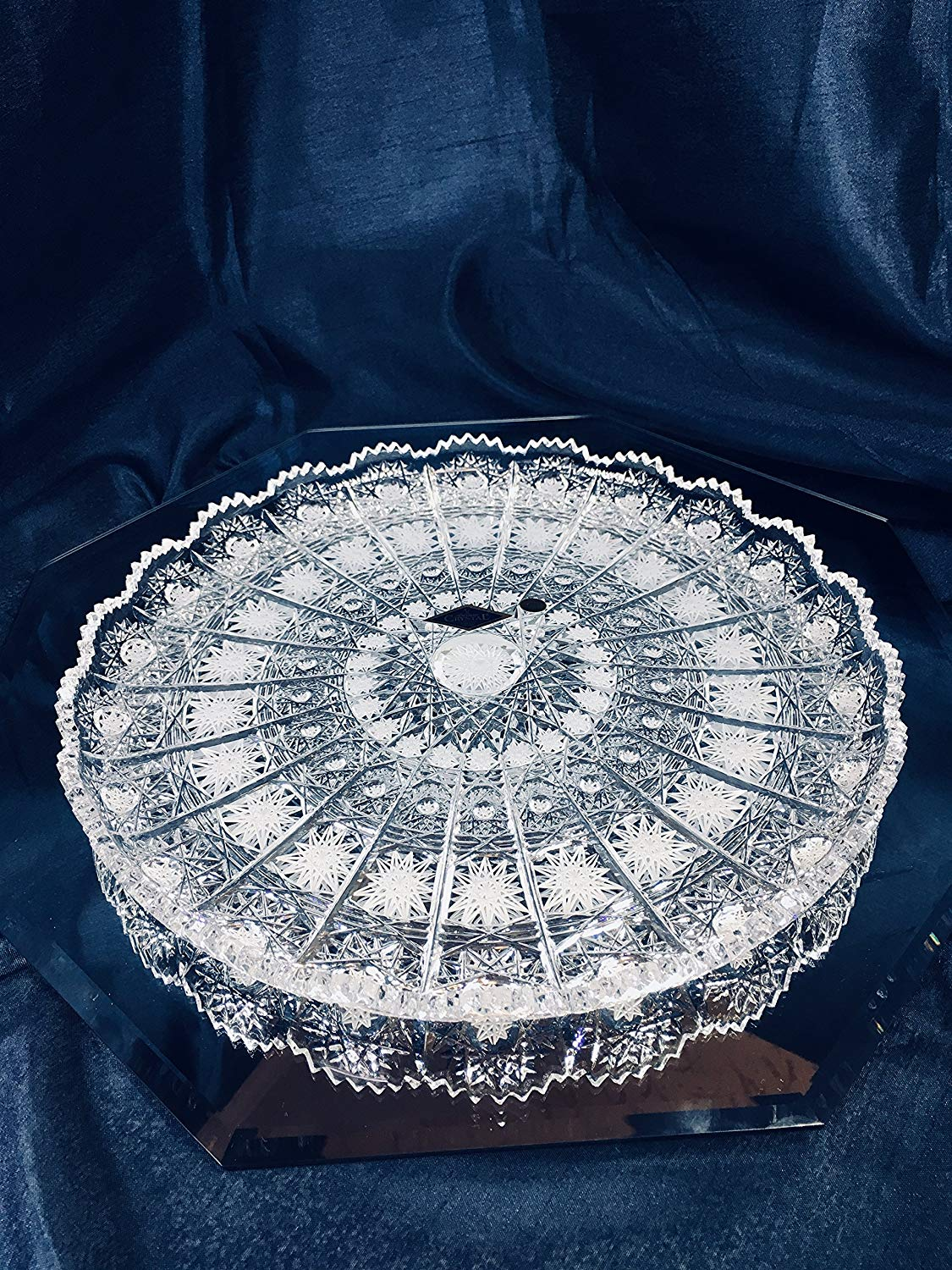 Buy Chrysanthemum Soft Glass Crystal Plate Plastic Pvc