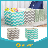 Custom pattern cute baby toy storage bins with handle