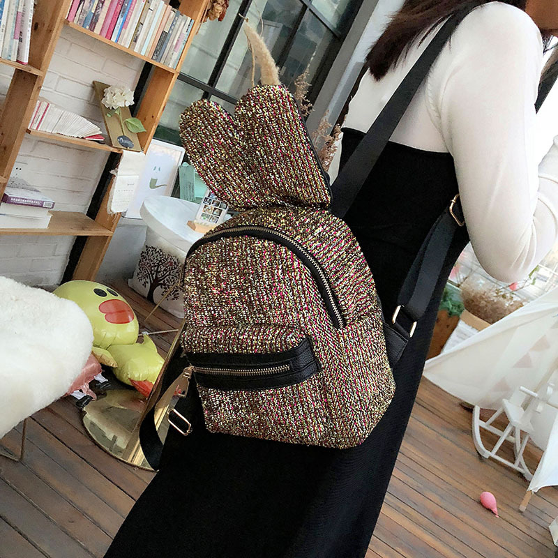 3D Ears Color Backpacks New Selling Student School Girl Woman Backpack