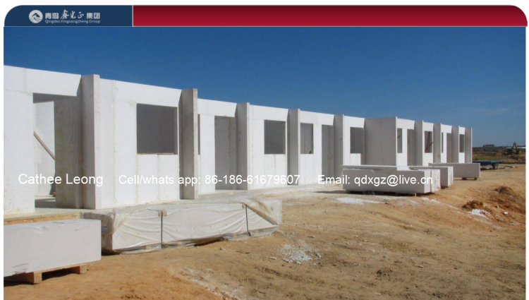 Permanent prefab house use ALC wall panel in 2017