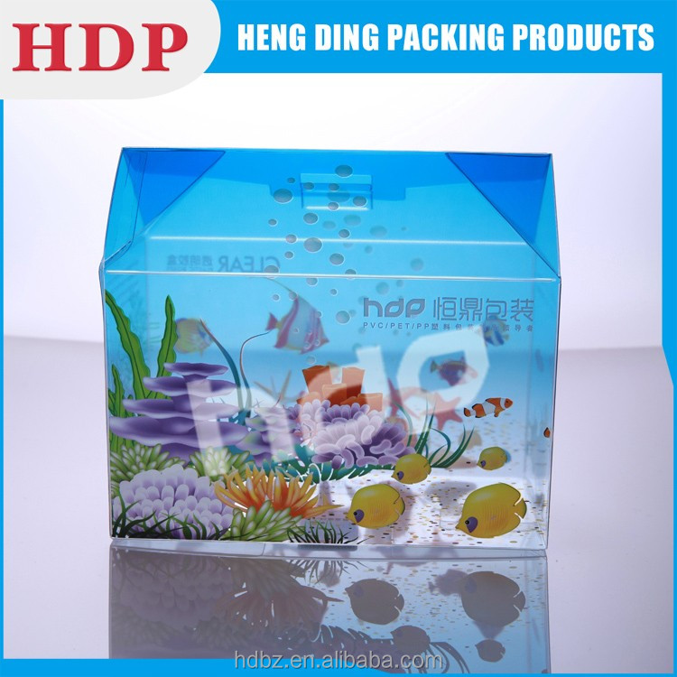 high quality recyclable transparent pet packaging box
