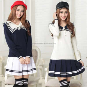 New japanese high schoolgirl navy sailor uniform lolita cosplay costume dress AGC1652