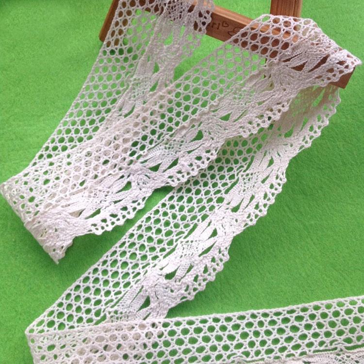 5ecfce5155 YQ-LC14 Puro cotone di lavoro a maglia del nastro di pizzo macrame trim  lingerie