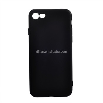 DFIFAN TPU covers for iphone 7 ,Micro scrub matte black color mobile cases for iphone 7 7 plus