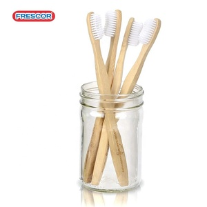 Biodegradsble eco friendly natural dropshippers nylon fiber fda approved  bamboo toothbrush ningbo form india with and charcoal